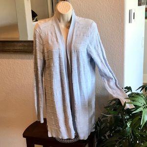 Loft Cardigan Summer Clothes Sz M Ribbed Design